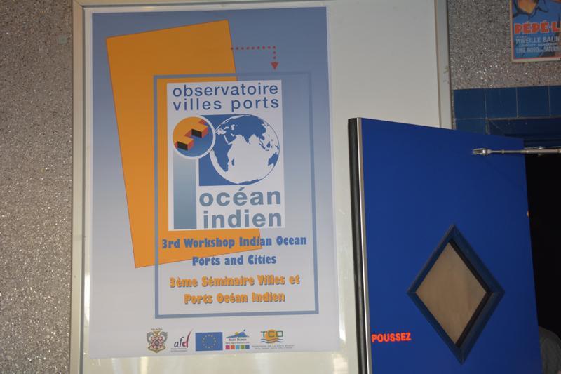 Affiche présentant le 3ème séminaire Villes et Ports de l'Océan Indien
